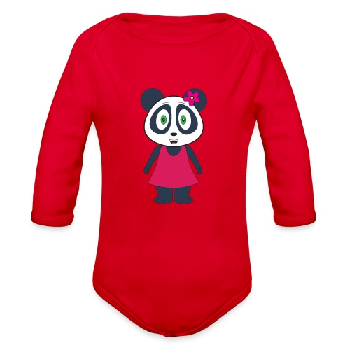 KuangPanda - Happy - Organic Long Sleeve Baby Bodysuit