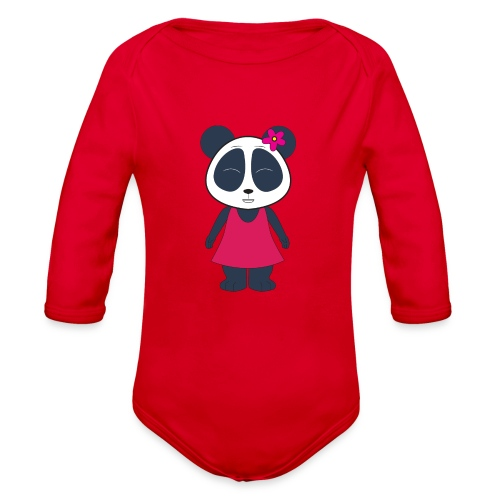 KuangPanda - Cute Smile - Organic Long Sleeve Baby Bodysuit