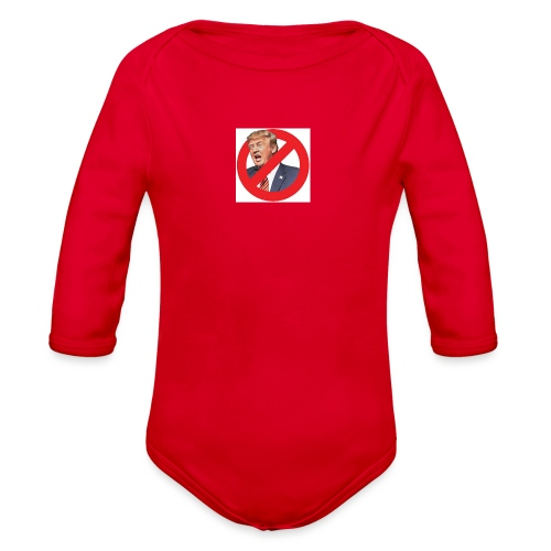 blog stop trump - Organic Long Sleeve Baby Bodysuit