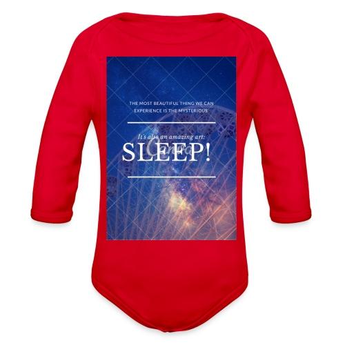 Sleep Galaxy by @lovesaccessories - Organic Long Sleeve Baby Bodysuit