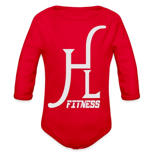 HLF Vector WHT - Organic Long Sleeve Baby Bodysuit