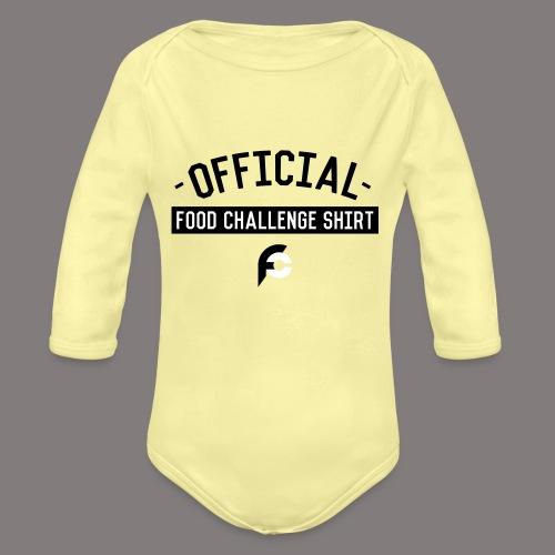 Official Food Challenge Shirt 1 - Organic Long Sleeve Baby Bodysuit