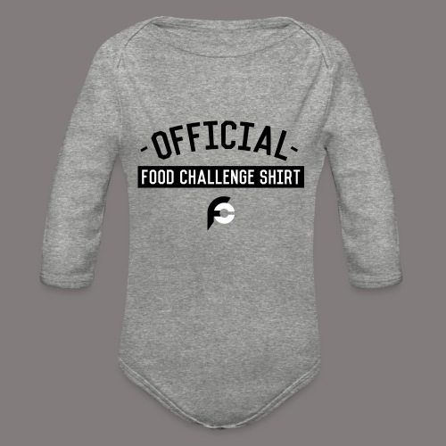 Official Food Challenge Shirt 1 - Organic Long Sleeve Baby Bodysuit