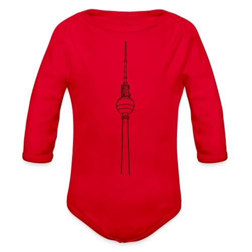 Berlin TV Tower - Organic Long Sleeve Baby Bodysuit
