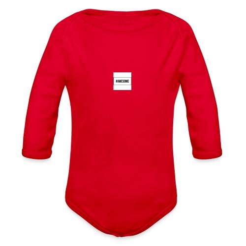 #AWESOME - Organic Long Sleeve Baby Bodysuit