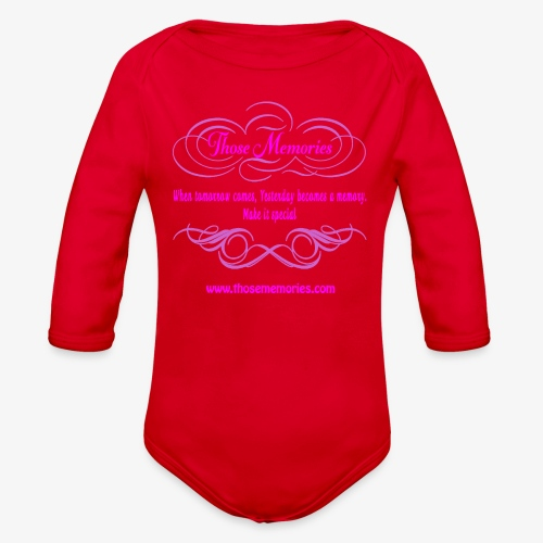Those Memories logo - Organic Long Sleeve Baby Bodysuit