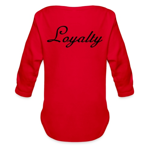 Loyalty Brand Items - Black Color - Organic Long Sleeve Baby Bodysuit