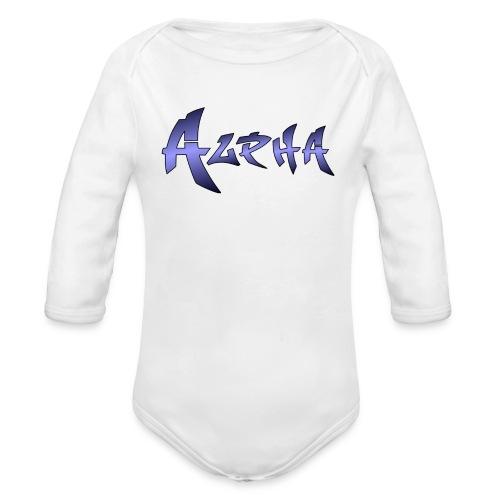Alpha Black - Organic Long Sleeve Baby Bodysuit