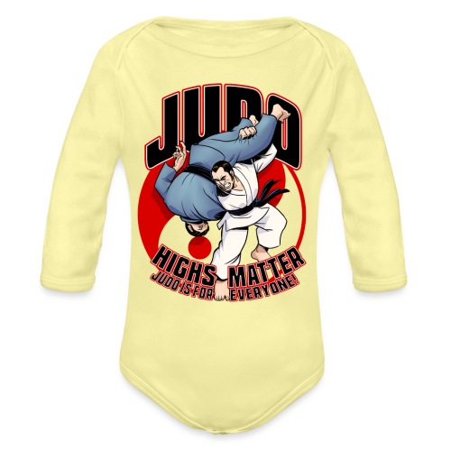 Judo Highs Matter - Organic Long Sleeve Baby Bodysuit