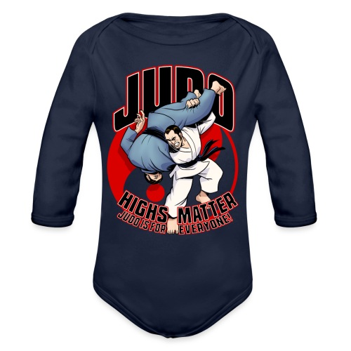Judo shirt Highs Matter - Organic Long Sleeve Baby Bodysuit