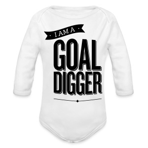 I Am A Goal Digger - Long Sleeve Baby Bodysuit