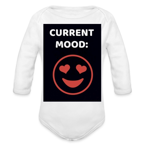 Love current mood by @lovesaccessories - Organic Long Sleeve Baby Bodysuit