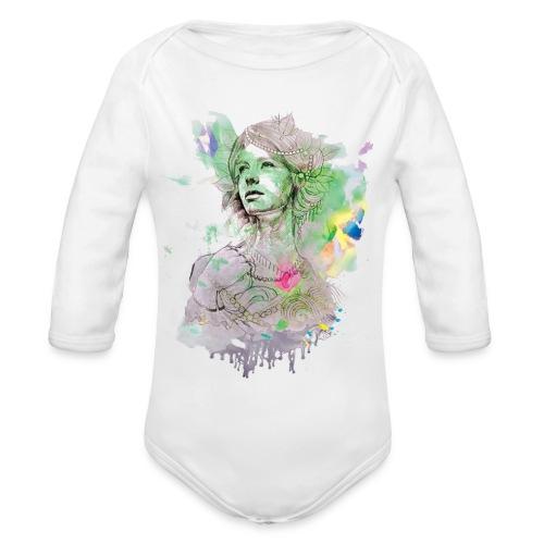 women in multicolor - Organic Long Sleeve Baby Bodysuit