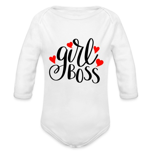 girl boss - Organic Long Sleeve Baby Bodysuit