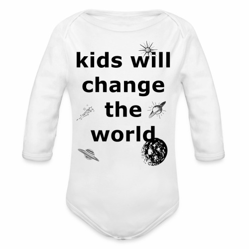 Change the World - Organic Long Sleeve Baby Bodysuit