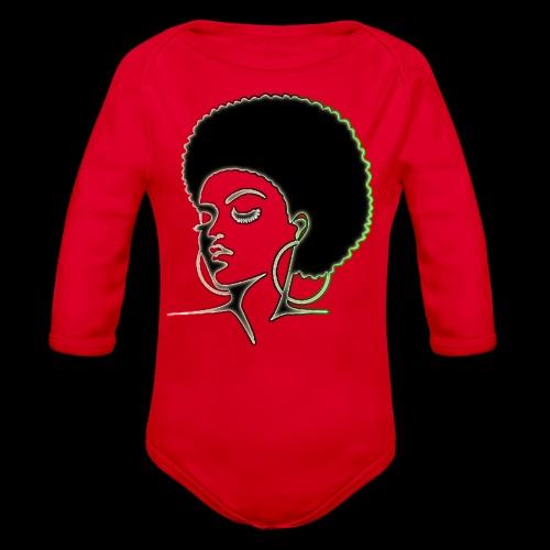 Afrolady - Organic Long Sleeve Baby Bodysuit