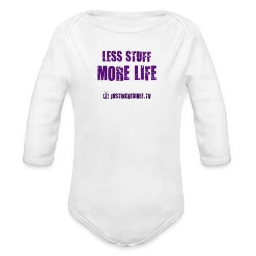Less Stuff More Life - Organic Long Sleeve Baby Bodysuit