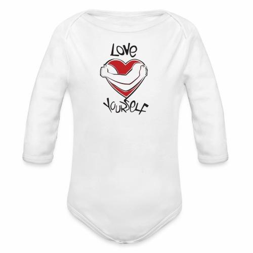 LOVE YOURSELF - Organic Long Sleeve Baby Bodysuit