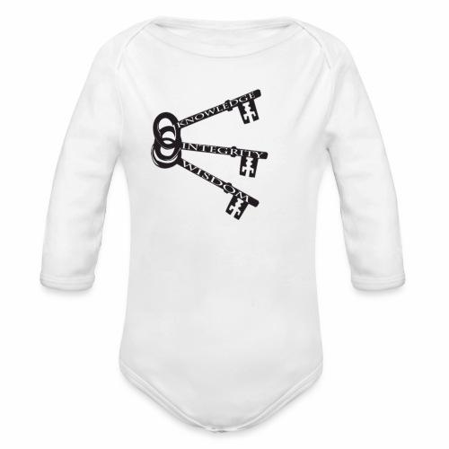 KEYS TO LIFE - Organic Long Sleeve Baby Bodysuit