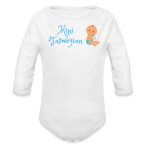 Boys Mini Taswegian - Organic Long Sleeve Baby Bodysuit