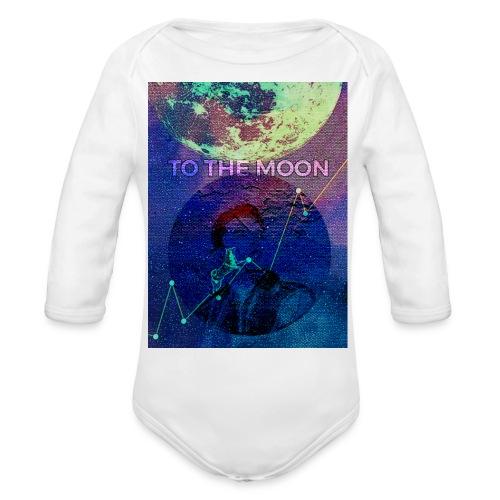 DOGE TO THE MOON - Organic Long Sleeve Baby Bodysuit