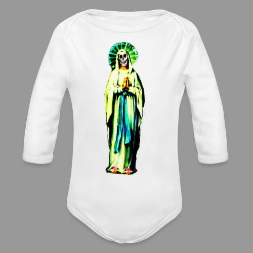 Cult Of Santa Muerte - Organic Long Sleeve Baby Bodysuit