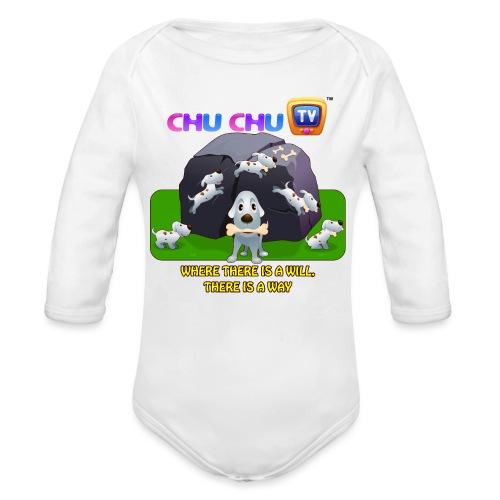 Motivation Slogan 9 - Organic Long Sleeve Baby Bodysuit