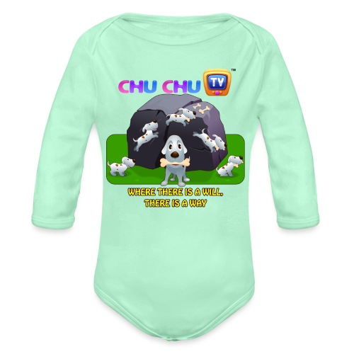 Motivation Slogan 9 - Organic Long Sleeve Baby Bodysuit