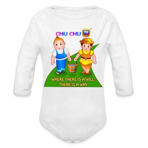 Motivational Slogan 8 - Organic Long Sleeve Baby Bodysuit