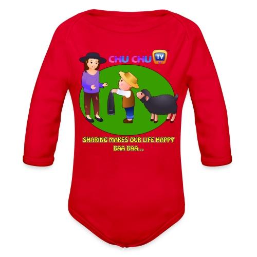 Motivational Slogan 1 - Organic Long Sleeve Baby Bodysuit