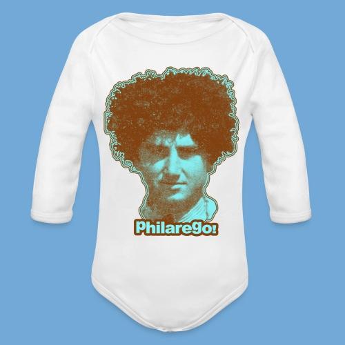Shaggy Hair man. - Organic Long Sleeve Baby Bodysuit