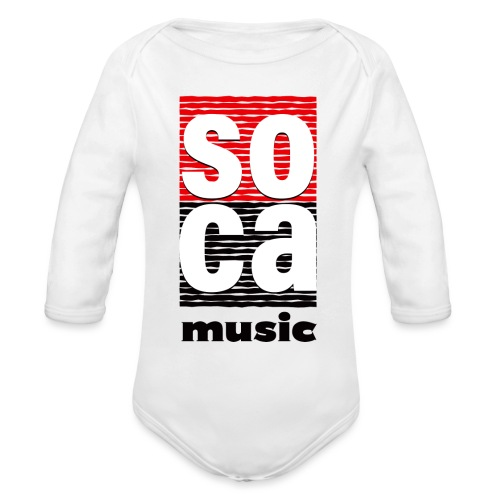 Soca music - Organic Long Sleeve Baby Bodysuit