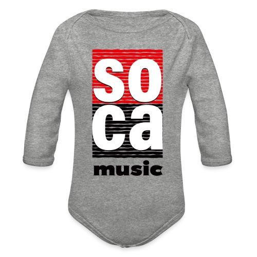 Soca music - Organic Long Sleeve Baby Bodysuit