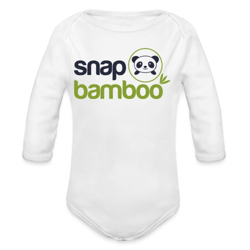 Snap Bamboo Square Logo Branded - Organic Long Sleeve Baby Bodysuit