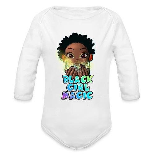 Black Girl Magic - Organic Long Sleeve Baby Bodysuit