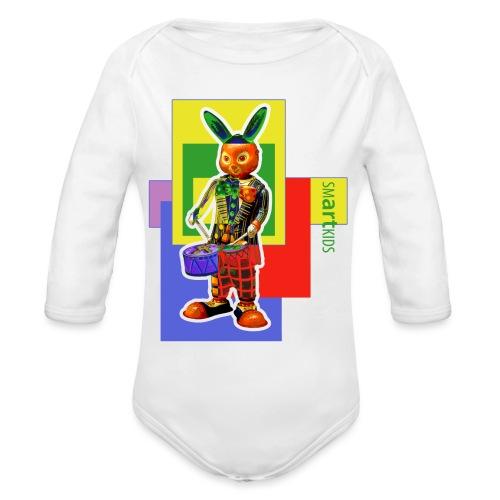 smARTkids - Slammin' Rabbit - Organic Long Sleeve Baby Bodysuit