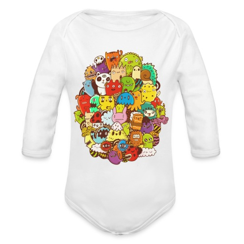 Doodle for a poodle - Organic Long Sleeve Baby Bodysuit
