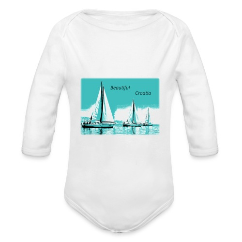Beautiful Croatia - Organic Long Sleeve Baby Bodysuit