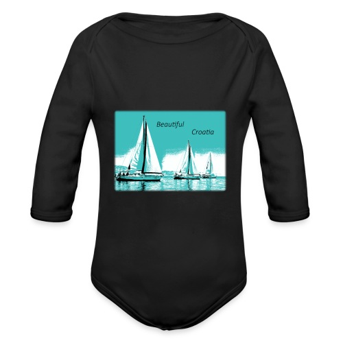 Beautiful Croatia - Organic Long Sleeve Baby Bodysuit