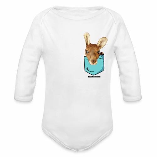 Kangaroo in a Pocket - Organic Long Sleeve Baby Bodysuit