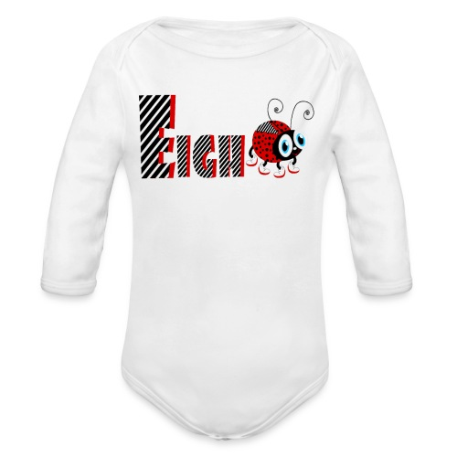 8nd Year Family Ladybug T-Shirts Gifts Daughter - Organic Long Sleeve Baby Bodysuit