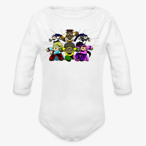 The Guardians of the Cloudgate, no logo - Organic Long Sleeve Baby Bodysuit