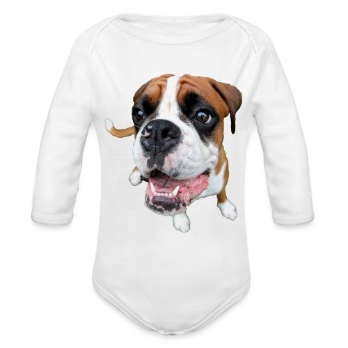 Boxer Rex the dog - Organic Long Sleeve Baby Bodysuit