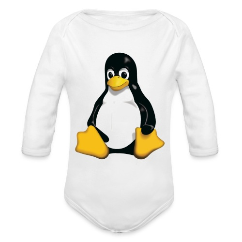 Tux - Organic Long Sleeve Baby Bodysuit