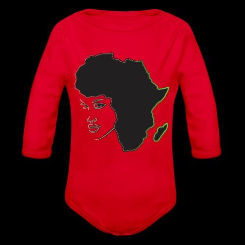 Afrika is Woman - Organic Long Sleeve Baby Bodysuit