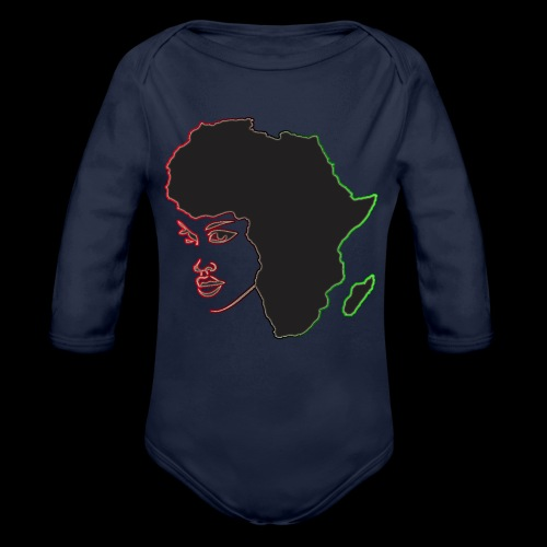Afrika is Woman - Organic Long Sleeve Baby Bodysuit