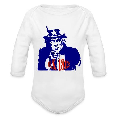 uncle-sam-1812 - Organic Long Sleeve Baby Bodysuit