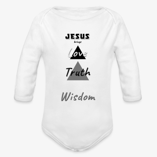 Love Truth Wisdom - Organic Long Sleeve Baby Bodysuit