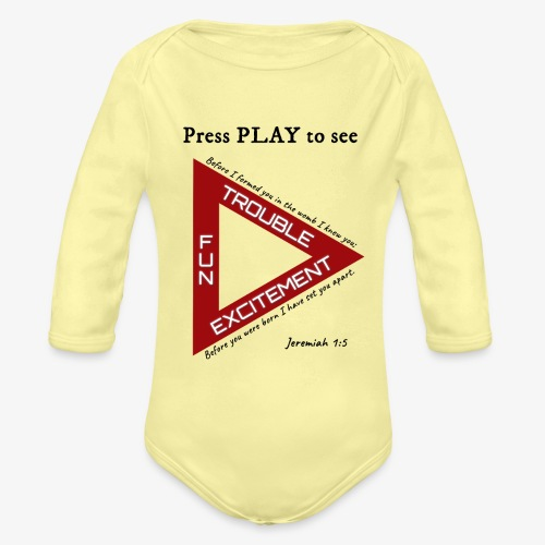 Press PLAY to See - Organic Long Sleeve Baby Bodysuit