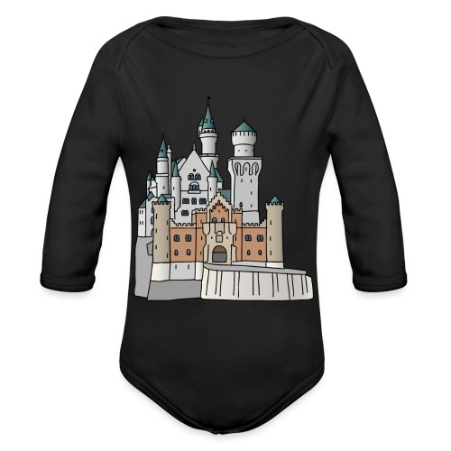 Neuschwanstein Castle, Bavaria - Organic Long Sleeve Baby Bodysuit